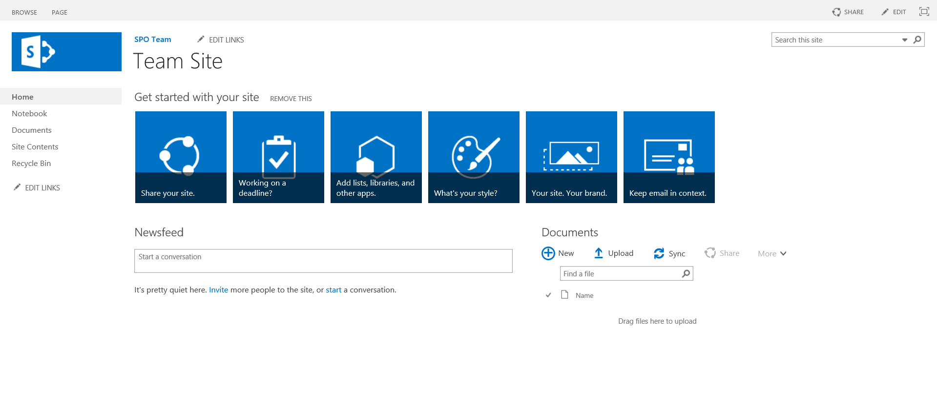 Office 365 Sharepoint Team Site Or Team Site Sharepoint Online
