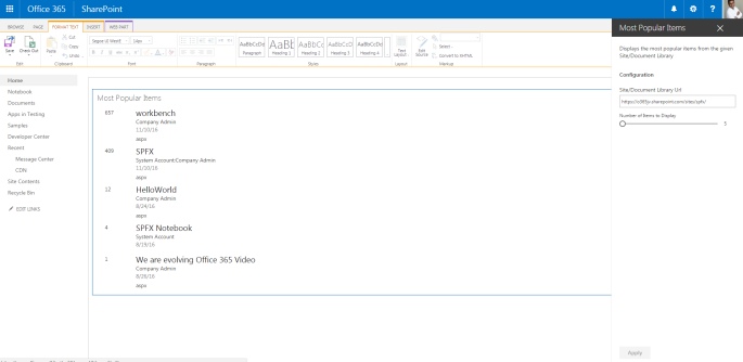 Office 365 – SPFx samples – A Complete Overview – SharePains