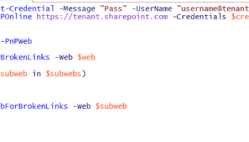 Office 365 – Check your site for broken links in SharePoint