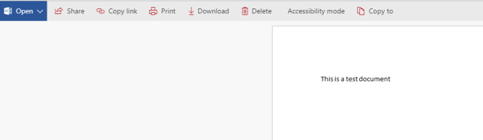Open document in previewer