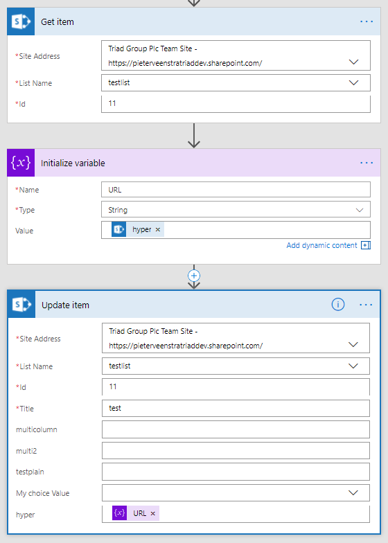 Microsoft Flow – Updating Hyperlink or Picture fields using