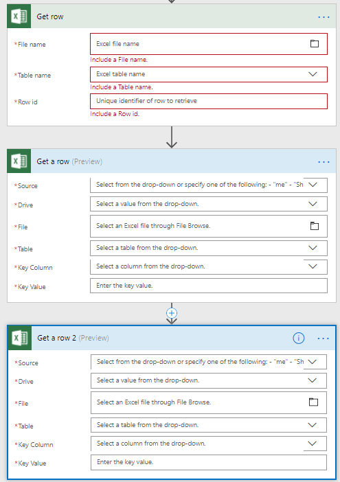 Microsoft Flow – Working with Excel, Excel and Excel