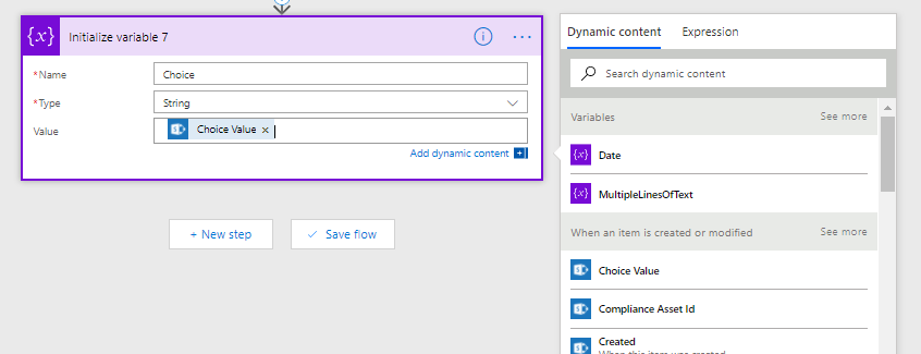 Microsoft Flow – Getting your SharePoint field values – My Microsoft
