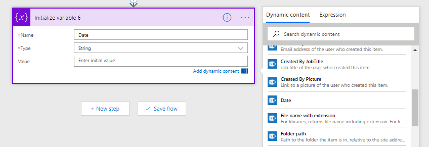 Microsoft Flow – Getting your SharePoint field values