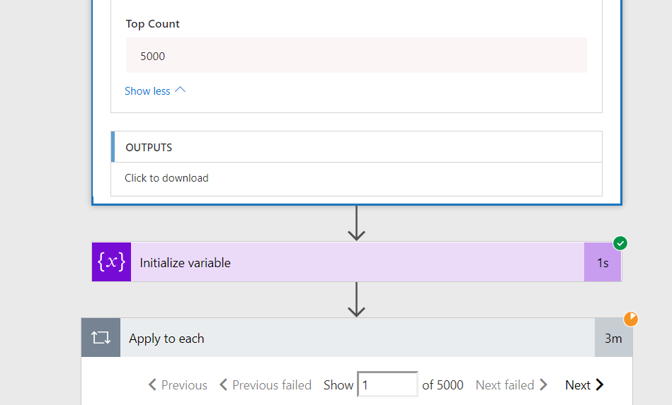 Microsoft Flow – Querying large libraries – Resolved