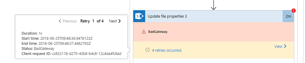 Microsoft Flow – SharePoint Connector's common error