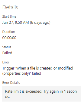Microsoft Flow – SharePoint Connector's common error messages and