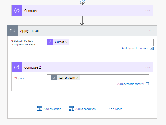 Shed some light on arrays or collections in Microsoft Flow