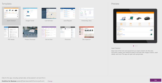 PowerApps – Screen templates, now this is a feature that I really