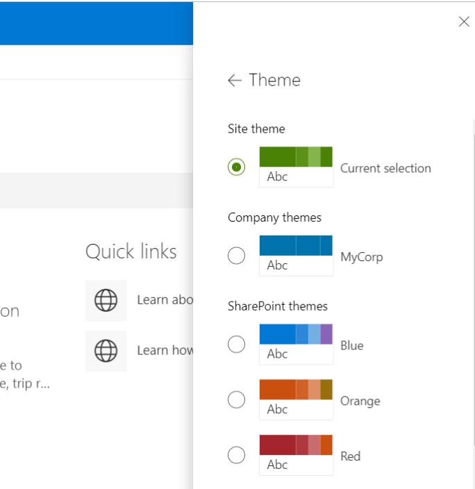 SharePoint Online – Custom branding for modern sites