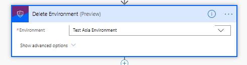 Delete Environment